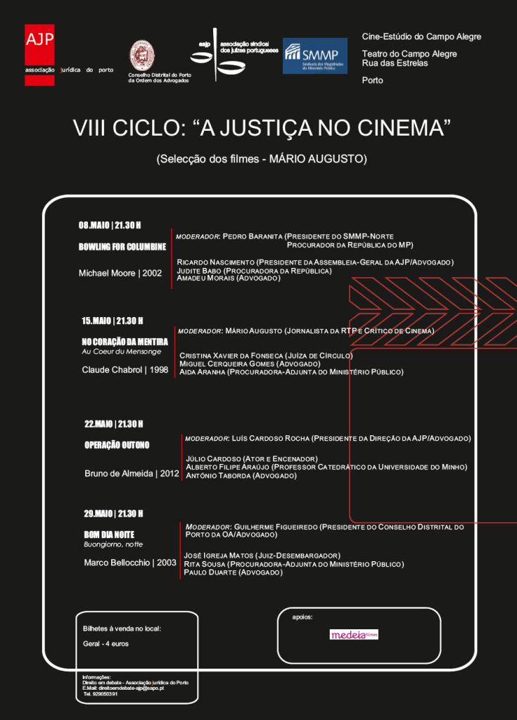 Cartaz VIII Ciclo Cinema 2013