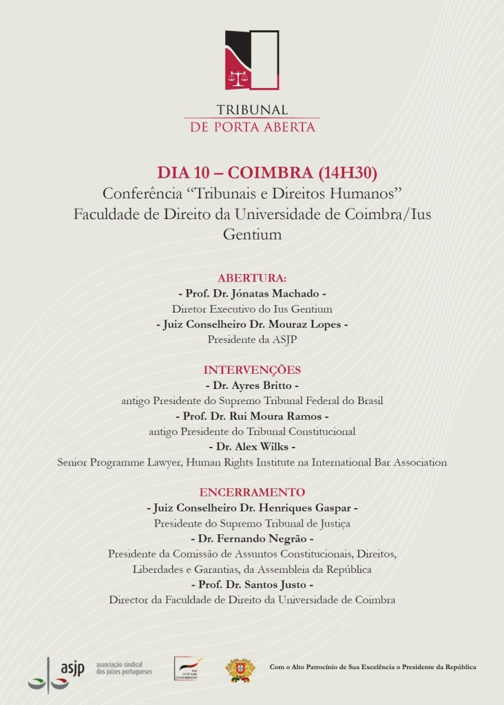 cartaz conferência Tibunais e Direitos Humanos 2013